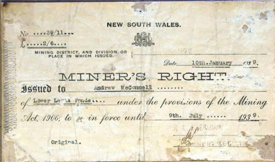 Mining licence