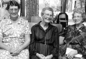 Former Matrons of Orange base Hospital L to R:Matron Fields, Matron Kerr and Matron Goldstone.